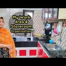My Work Area and Store Room Organization || With tips || Malayalam