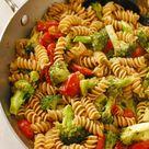 Tomato Broccoli Pesto Pasta