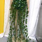 Full Poison Ivy Monokini Gown Dress Costume Rave Bra Rave Wear Cosplay Halloween