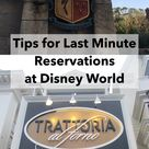 Tips for Last Minute Reservations at Disney World
