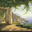 Stretched Canvas Print: View to the Amalfi Coast by Carl Frederic Aagaard : 20x30in