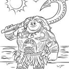 Раскраски Моана. Раскраски из мультфильма про храбрую девушку Моана.