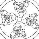 Coloriage Mandala à imprimer sur Hugolescargot.com