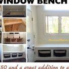 DIY Wooden Window Bench Seat With Storage