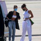 HAILEY BIEBER and BELLA HADID Arrives at Airport in Sardinia 06/27/2020
