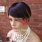 NEW ARRIVAL // Short Razor Cut Full Wig, Pixie Cut Hairstyle, 100%  Human Hair Wig, Ombre Pink & Green // BELIEVE