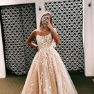SR1047,A Line Spaghetti Straps Appliques Tulle Prom Dresses,Graduation Dance Dress