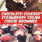 Chocolate-Covered Strawberry Cream Cheese Brownies