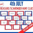 4th of July scavenger hunt clue cards / Fourth of July | Etsy