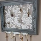 We specialize in unique hanging jewelry organizers (wall mounted jewelry boxes) as gifts for a bridal party, mother, grandmother, sister, wife, daughter, co-worker and for you to decorate your space.
