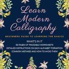 Modern Calligraphy Workbook  digital download pdf