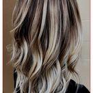blonde highlights on dark hair all over
