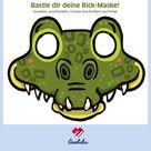 Tiermaske basteln: Rick, das Krokodil