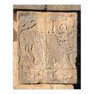 10 inch Photo. Mayan Carving: Eagle Eating Heart