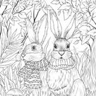 Sweet Couple  Printable Adult Coloring Page from Favoreads   Etsy