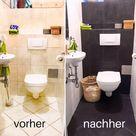 Vorher - Nachher; Klo, WC, Toilette oder auch schlicht