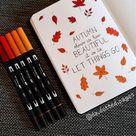 25 Beautiful Fall Bullet Journal Ideas - Autumn BuJo Spreads