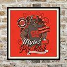 Myles Garrett browns Fake Craft Beer Label Print | Etsy