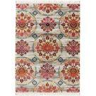 benuta Kurzflor Teppich Simsala Beige/Multicolor 140x200 cm - Moderner Bunter Teppich für Wohnzimmer