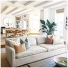 beige sectional living room pillows