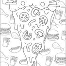 Pizza Pusheen - Doodle Art / Doodling Coloring Pages for Adults - Just Color