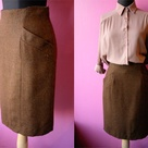Brown Pencil Skirts
