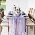 Lavender Gauze Table Runner, Boho Wedding Decor, Lavender Cheesecloth, Colored Gauze Runner, Rustic Wedding Decor, Lavender Table Runner