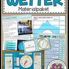 Wetter Unterrichtsmaterial Riesen Materialpaket mit Wetter Lapbook   Erdkunde Unterricht