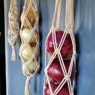 Macrame Hanging Fruit Basket Tiered Produce Holder Kitchen   Etsy