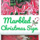 Marbled Christmas Sign