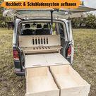 Bett mit Stauraum in VW einbauen