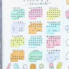 20 Best Ice Cream Bullet Journal Spreads For 2020 - Crazy Laura