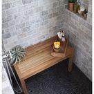 teakwood shower bench