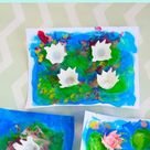 Floating Egg Carton Waterlily Craft From A Little Pinch of Perfect.