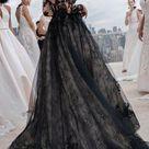 BLACK WEDDING DRESSES WITH EDGY ELEGANCE
