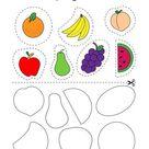 Corta Y Pega Las Frutas Coloring Page - Twisty Noodle In