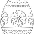 Ausmalbilder Osterei | Ausmalbild Osterei mit Blumenmuster zum Ausdrucken