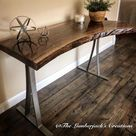SOLD Natural Live Edge Desk Table Sofa Table Entry Table   Etsy