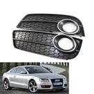 Pair Car Front L&R Bumper Fog Light Grille for Audi A5 2008 2011 2009 2010