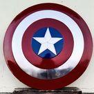Black Metal Captain America Shield Medieval Round Shield | Etsy