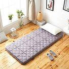 ZHANG Thicken Japanese Floor Futon Mattress,Breathable Matt Mat Soft Foldable Roll Up Sleeping Pad Boys Girls Dormitory Mattress-c King:71x79inch