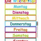 German days of the week - Die Wochentage auf Deutsch