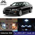 18Pcs No Error White Canbus LED Lamp Car Bulbs Interior Package Kit For 2005 2011 Audi A6 C6 Map Dome Door Plate Light