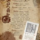 Book of Shadows Pages Demons Mythology