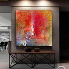 Large Original Abstract Oil Painting / Contemporary Art / Hand-painted Large Wall Art Decor/ Extra Large Oil painting / Large Canvas Art