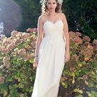 2022 Cheap Wedding Dresses Chiffon Princess A Line Sweetheart Spaghetti Straps Beach Bridal Gowns   Ivory / US2