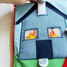 Felt Fire Truck with House that Catches Fire  Things that Go   Etsy