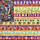 PDF Quilt Pattern -- Digital Pattern for Halloween Flag -- Parts 1 & 2: Field of Candy AND The Stripes quilt