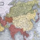 1863 Asia Original Antique Map - Chinese Empire, Siberia, Japan, India, Southeast Asia, Arabia - Vintage Wall Map - Available Framed