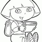 dora colouring pages online